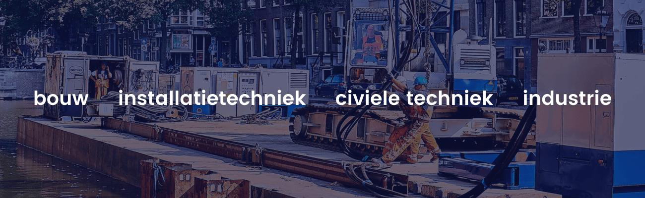 Professionals voor opdrachtgevers in de bouw civiele techniek installatietechniek en industrie